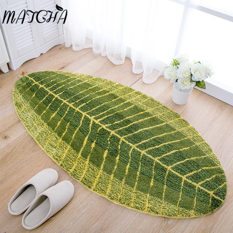 Matcha Anti Slip Banana Leaves Shape Mat Waterproof Carpets Kitchen Living Room Outdoor Rugs Floor Front Door In From Home Garden On
