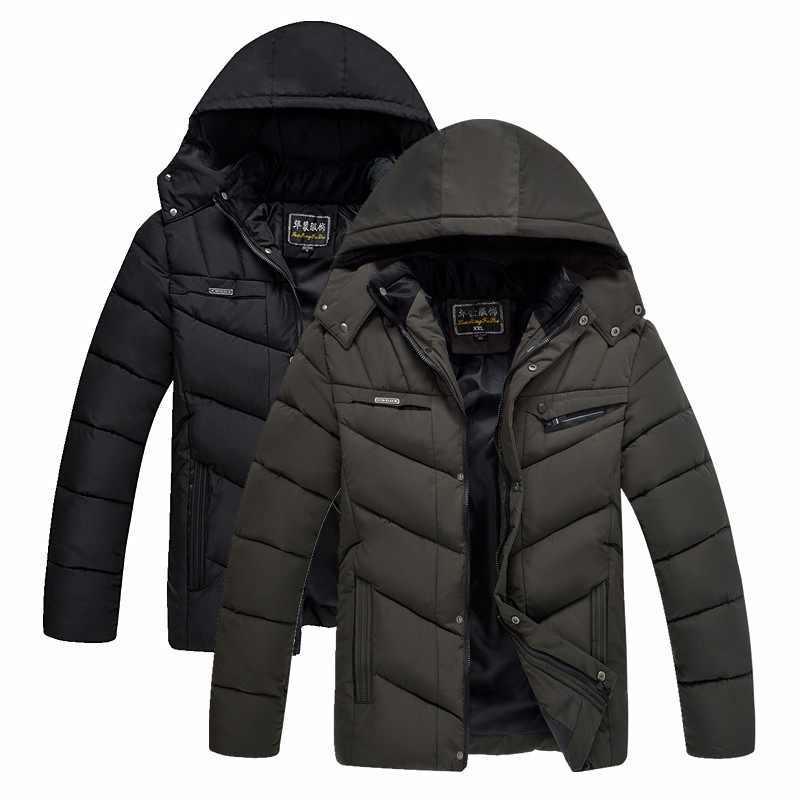 2018 XL-4XL 冬男性のジャケット新ブランド高品質ぬくもりメンズジャケットとコート厚いパーカー男性生き抜く秋