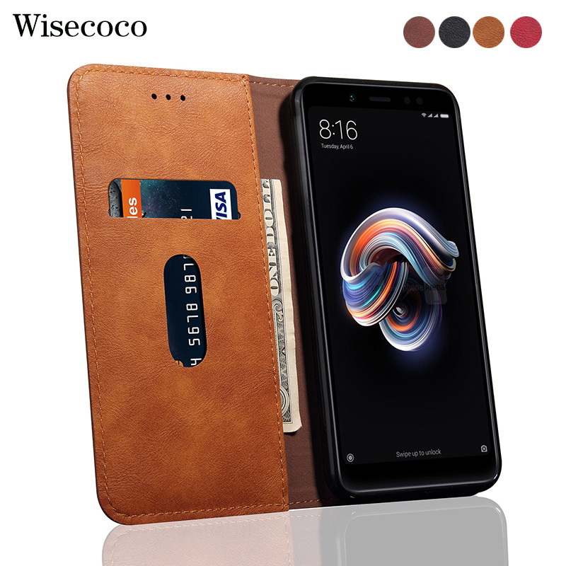 Flip Case Pour Xiaomi redmi note 5 4 gb 64 gb En Cuir De Luxe Portefeuille Stand Cas de Téléphone De Carte Pour caso Xaomi redmi note 5 pro etui