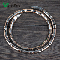 Wollet Jewelry Energy Healing Gifts For Men Gold Plated 3 In 1 Infrared Magnetic Germanium Titanium