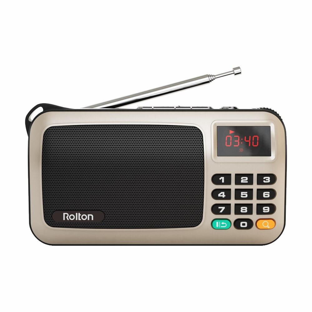 Rolton W405 портативный мини FM радио динамик музыкальный плеер TF карта USB для ПК iPod Телефон с светодиодный дисплей