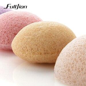 Image 3 - Fulljion 6 renkler doğal Konjac Konnyaku kozmetik puf yüz sünger yüz temizleyici yıkama yüz bakımı yüz toz makyaj araçları