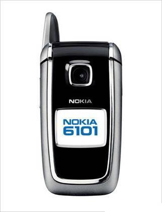 6101 100 original phone Nokia 6101 Flip refurbished cell phone Black colo and Silver color in