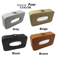 Car Styling Tissue Box Artificial Leather Sun Visor Tissue Case Gray Beige Black Brown Back Seat