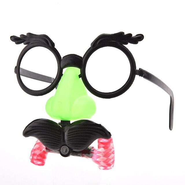 Nova Bigode Nariz Falso Cabelo soprar dragão Óculos de Palhaço Traje Bola Redonda Quadro Nariz Apito joke Engraçado brinquedos
