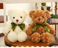 a pair of small cute plush teddy bear toy white&brown bear doll gift about 45cm s1951