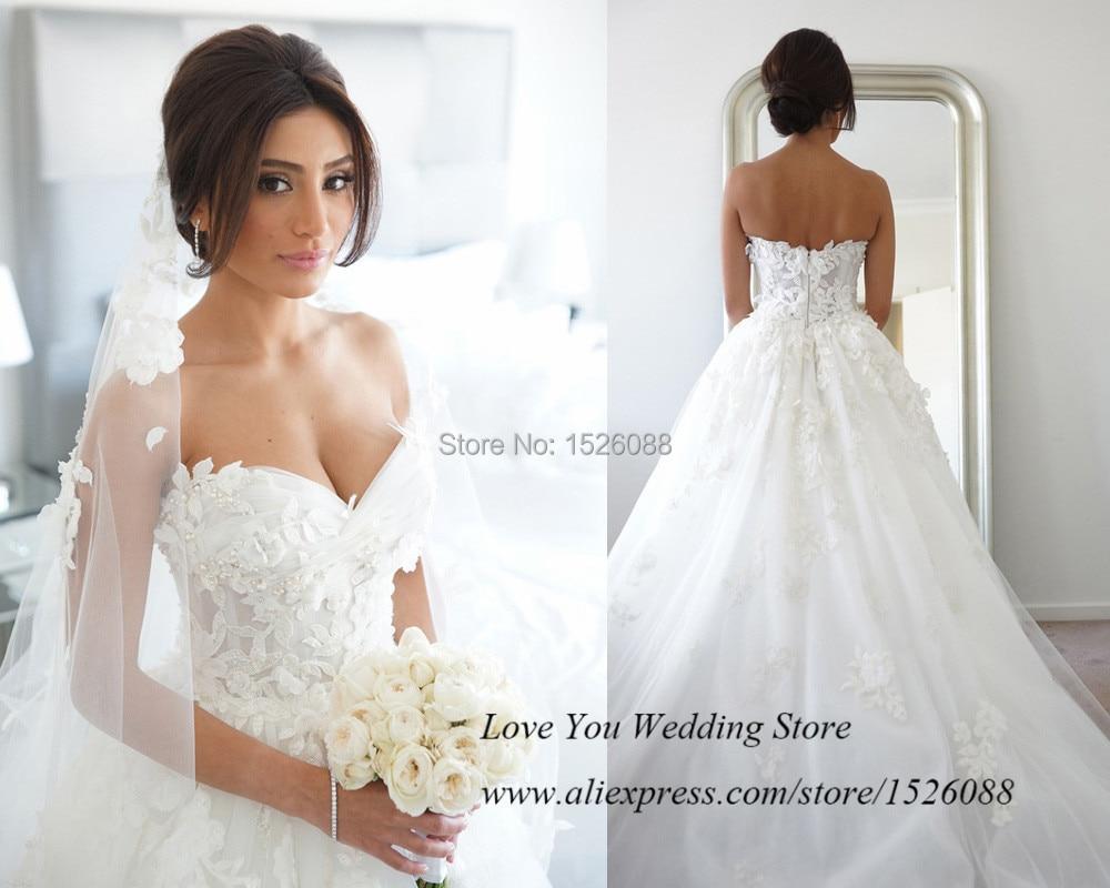 Vestido De Noiva 2015 Vintage Wedding Dress Lace Princess