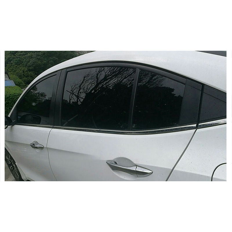Image 5 - 50*600cm Black Window Film For Car Window Glass VLT Auto House Commercial UV+Insulation Car Film For Side Windows-in Car Stickers from Automobiles & Motorcycles