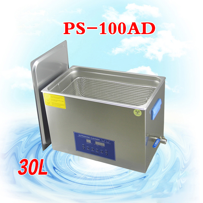 1PC Ultrasound Cleaner Stainless steel Cleaning Machine glasses jewelry special purpose PS 100AD 30L 600W with