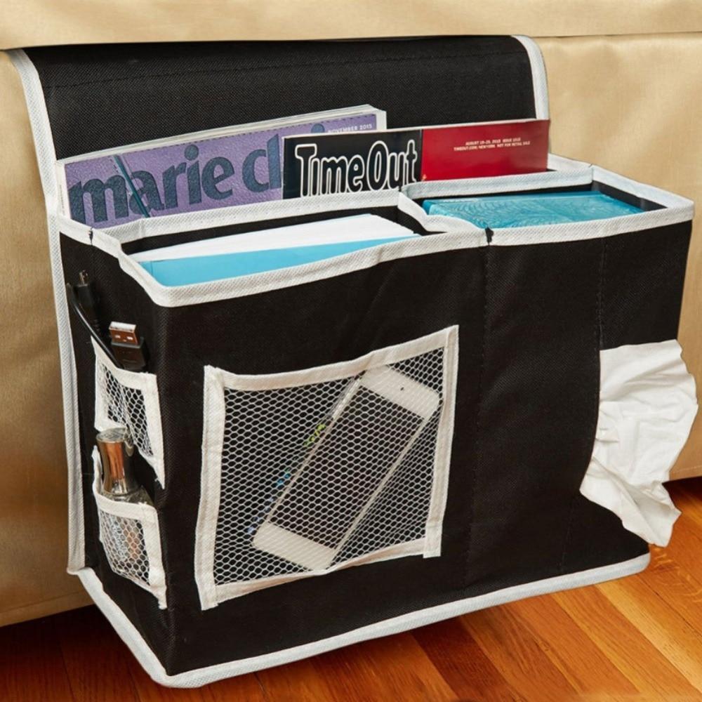 Room Bedside Hanging Caddy Pockets Storage Bag Bed Organizer Holder Shelf 6L