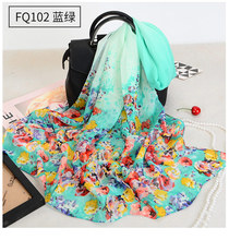 New Summer Little Silk Scarf Female Hundreds of Fashion Scarves Decorate Long Chiffon Fragmented Thin Sunscreen