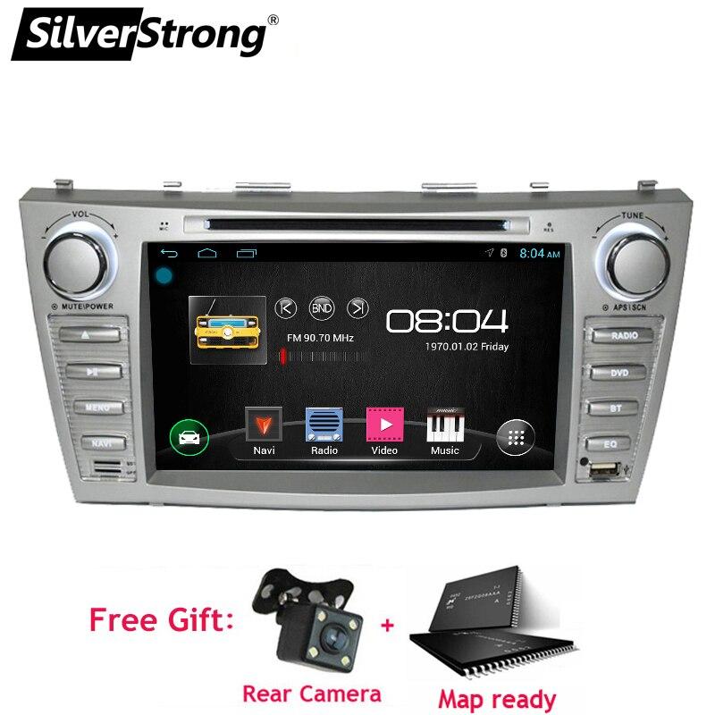 SilverStrong 2din Android9.1 DVD de voiture pour TOYOTA CAMRY Aurion DVD de voiture CAMRY v40 GPS autoradio DVD Navigation 1024*600