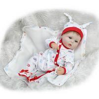 17 42cm Bebe Bouquets Doll soft cloth body Lovely Baby Silicone Reborn Baby Dolls NPK
