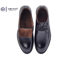High Quality Men Winter Warm Fur Comfortable Oxford Wedding Dress Shoes Male Business Formal Brogue Short Boots Round Toe Sales
