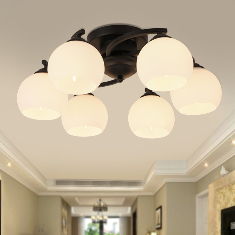 Nordic living room chandelier American iron Mediterranean modern minimalist  bedroom lamp Restaurant ceiling lamps|Chandeliers| |  - title=