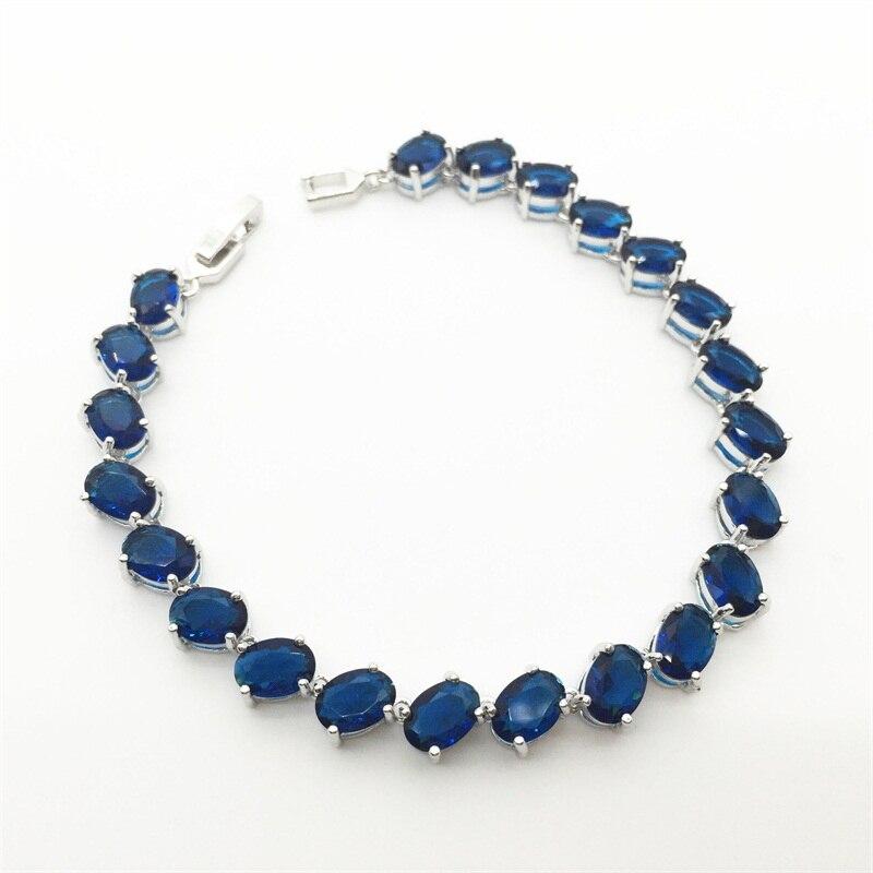 Classique Bleu Montana Zircon Bijoux blanc Or Couleur Femmes Bracelets 2015  De Mode! livraison Gratuite 32e003637c4