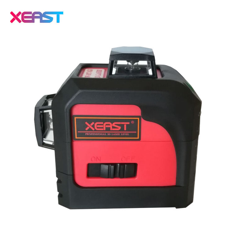 XEAST XE-13A Green or Red 3D laser level meter 12 Lines 360 degree Vertical Cross Super Powerful With oblique line kapro laser level laser angle meter investment line instrument 90 degree laser vertical scribe 20 meters