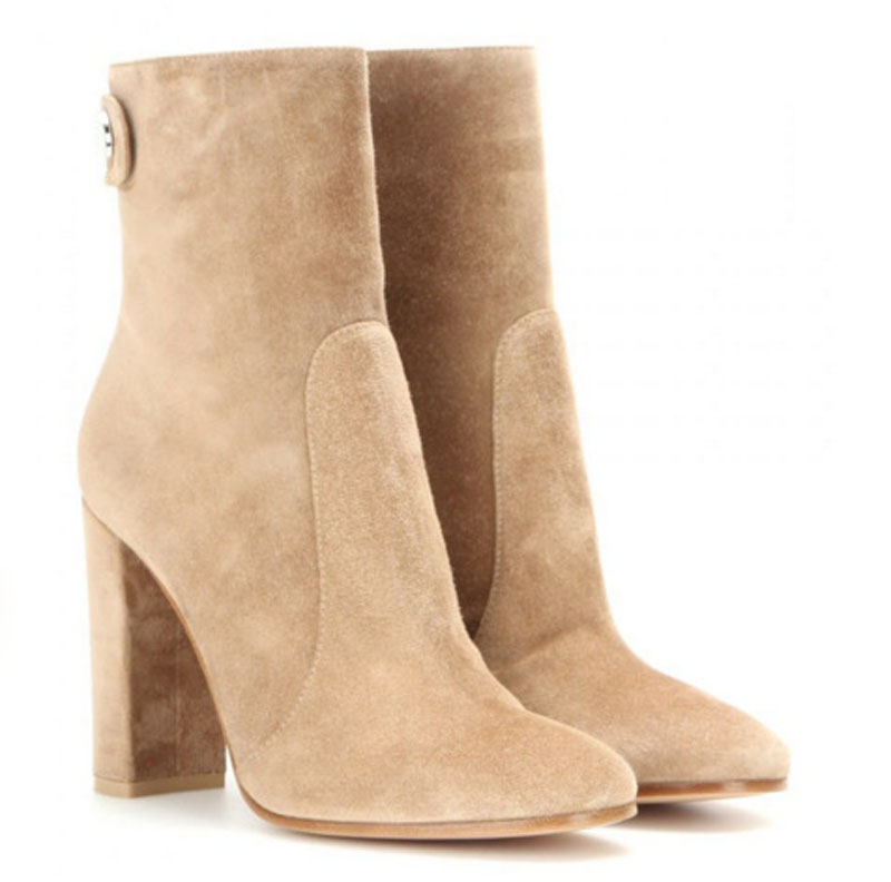 New Spring Autumn 2017 Square High Heels Women Ankle Boots Concise Style Women Boots Nice Pointed Toe Martin Boots Zapatos Mujer 2017 fashion new red horsehair women ankle boots square high heel short booties autumn zip up martin botines mujer women pumps