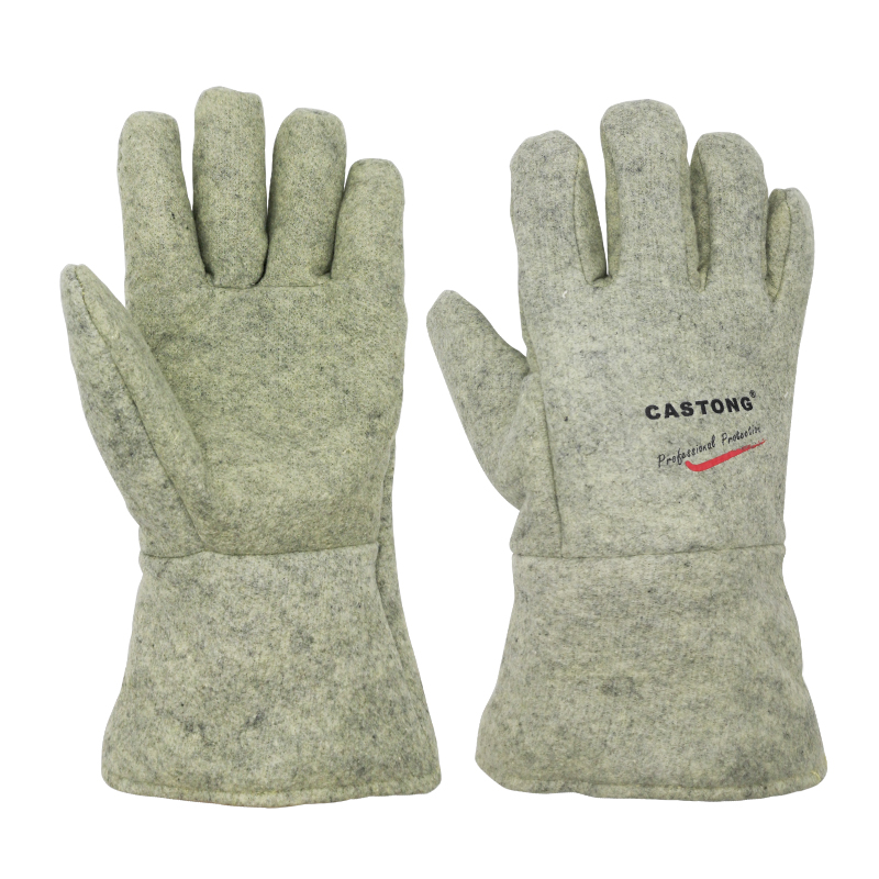 500 Degrees High Temperature Aramid Gloves Fireproof Flame Retardant Protective Gloves Anti-scalding Anti-Heat Safety Gloves