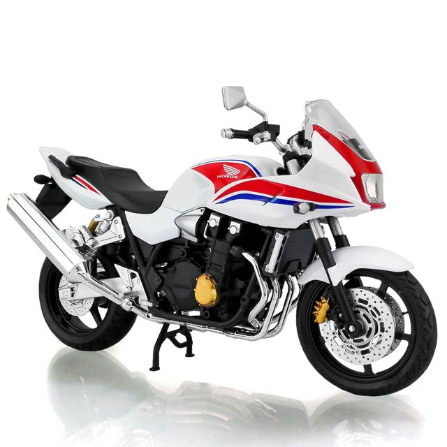 1:12 escala CB1300SB motocicleta Rojo y Blanco Aleación modelos diecast metal moto raza miniatura Juguete De Regalo Colección