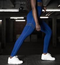 Women Leggings capris high compression Slimming pants blue leggings for fitness Work out Legins for girl push up leggings black