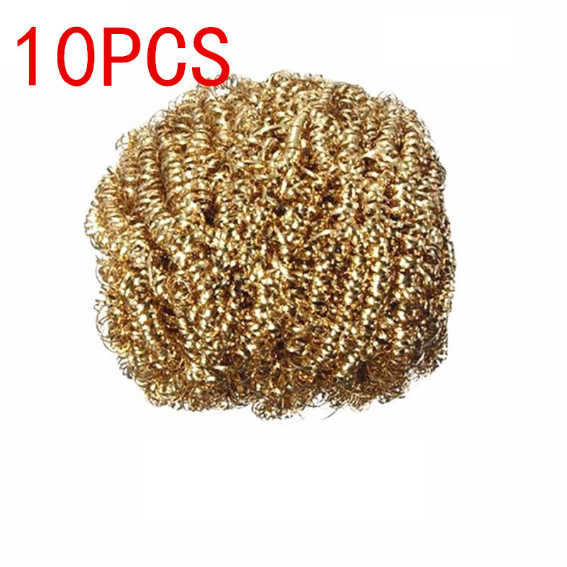 10pcs/lot Clean Ball Soldering Iron Head Clean Copper Ball  Soldering Iron Tip Cleaner Soldering Copper Wire Ball BGA Tools