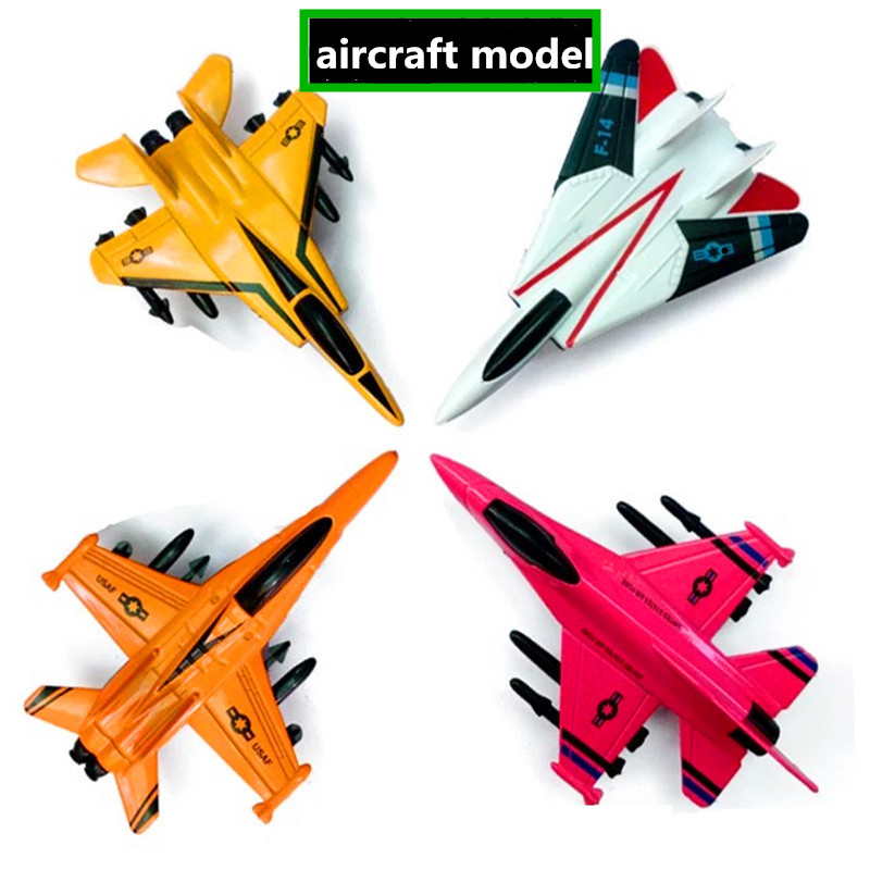 1pcs Alloy Aircraft Model Kids Toys Military Model Toy Lifelike Warplane Kids Fighter Pull Back Airplane Birthday Xmas Gift Jade White