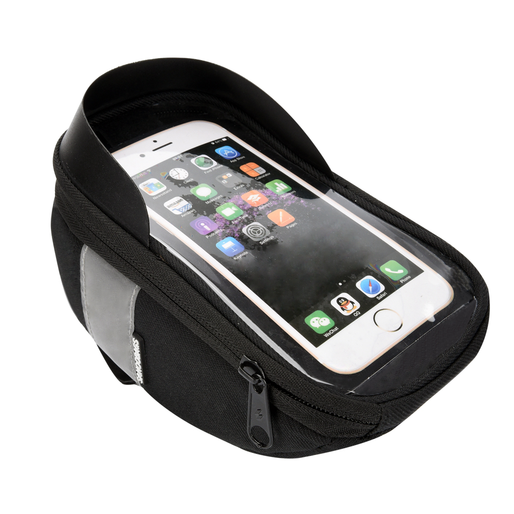 Roswheel Sahoo 112003 Cycling Bicycle <font><b>Bike</b></font> Head Tube Handlebar Cell Mobile Phone Bag <font><b>Case</b></font> Holder <font><b>Case</b></font> Pannier For 6.5in Phone image