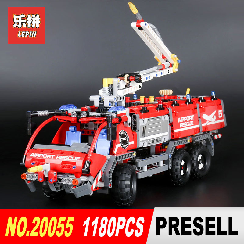 Lepin 20055 1180Pcs Genuine Technic Mechanical Series The Rescue Vehicle Set Educational Building Blocks Bricks Toys Gift 42068 lepin 20076 technic series the mack big