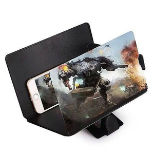 4 قطعة 3D الهاتف المحمول فيديو مكبر للصوت 8 بوصة HD العين حماية الكنز الإبداعية جديد مسند متحرك عدسة مكبرة الفيديو العين
