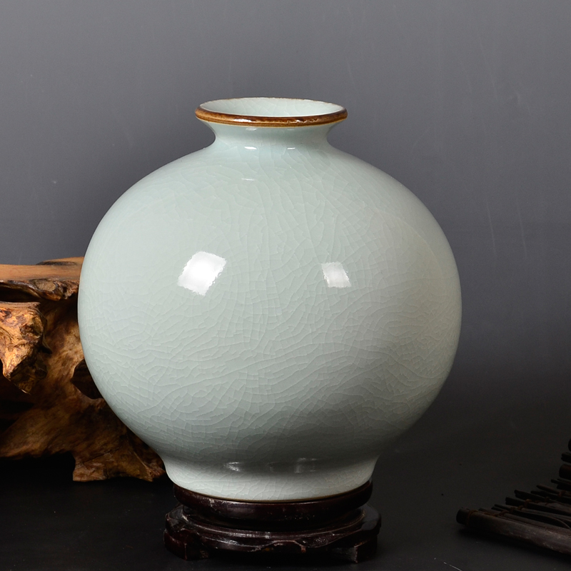 Jingdezhen Ceramics Antique Official Kilns Cracks Vases Flower Vases Retro Chinese Living Room Porcelain Bottles porcelain vase vase