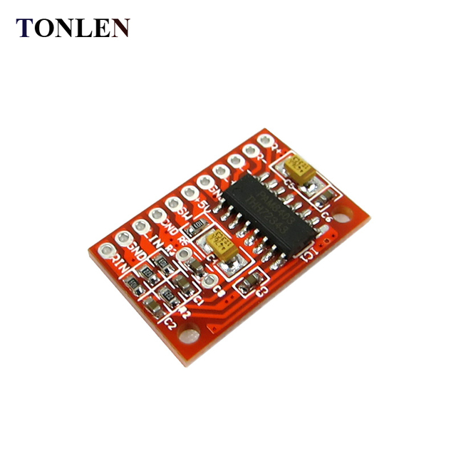 Cheap TONLEN 10pcs PAM8403 Mini Digital Amplifier Board 3W*2 High Power DIY Car Exter Speaker Class D Audio Digital Amplifier Module