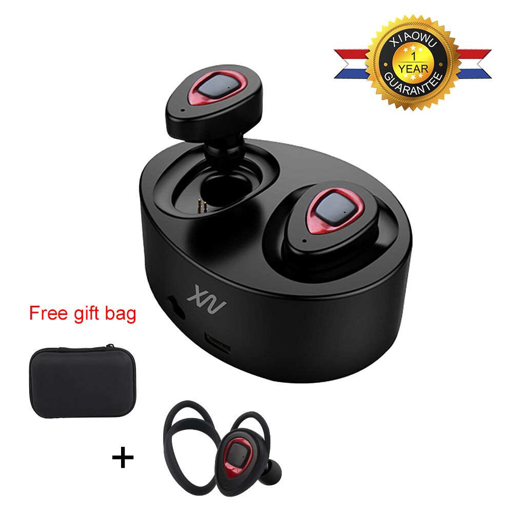 Sago K2 Wireless mini earphone k5 Bluetooth Headset Stereo With Mic and 450mAh Charging Box for Iphone smart phone wireless bluetooth headset two mini earphone together separate use stereo earbuds with charging dock for iphone android phone