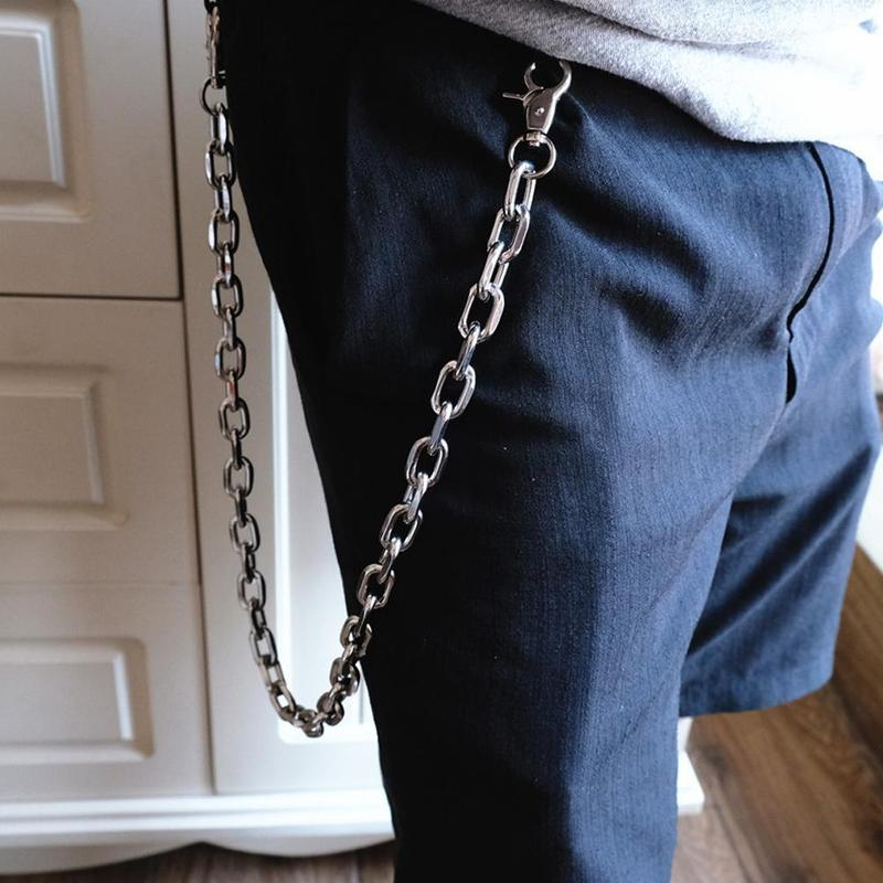 Men Women Hip Hop Silver Metal Wallet Chain Jeans Thick Chunky Links Chains