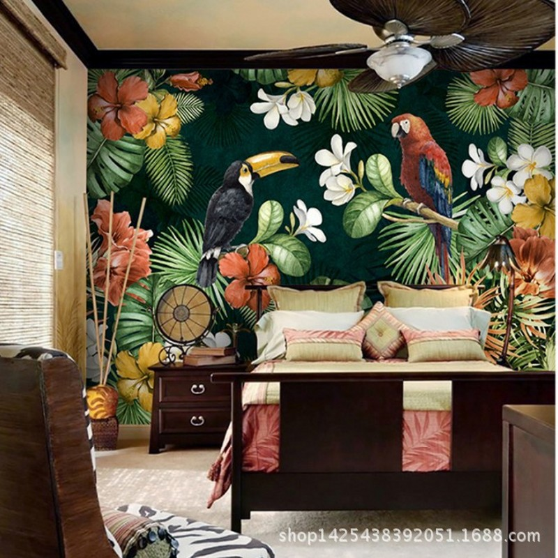 Achetez en gros papier peint for t tropicale en ligne for Wohnzimmer bilder amazon