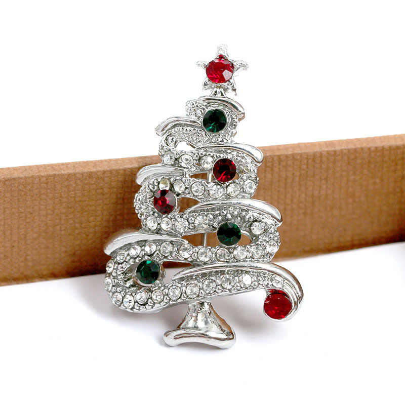 aaec2f7339 CINDY XIANG Fashion Rhinestone Christmas Tree Brooches for Women Vintage  Elegant Suit Pins Coat Backpack Accessories Jewelry