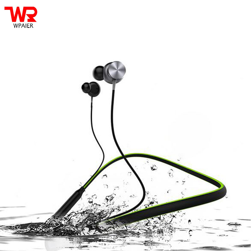 WPAIER HT1 Wireless Bluetooth Headphone Neckband Outdoor sport Stereo Headset Waterproof Magnetic With Mic Earphone Universal remax rb s7 headphone magnetic neckband bluetooth v4 1 wireless hd stereo sports earphone music headphone with mic multi connect