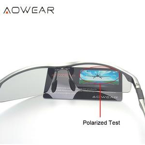 Image 4 - AOWEAR HD الرجال اللونية الاستقطاب النظارات الشمسية الرجال الاستقطاب الحرباء نظارات ليوم ليلة القيادة مضادة للوهج نظارات Gafas