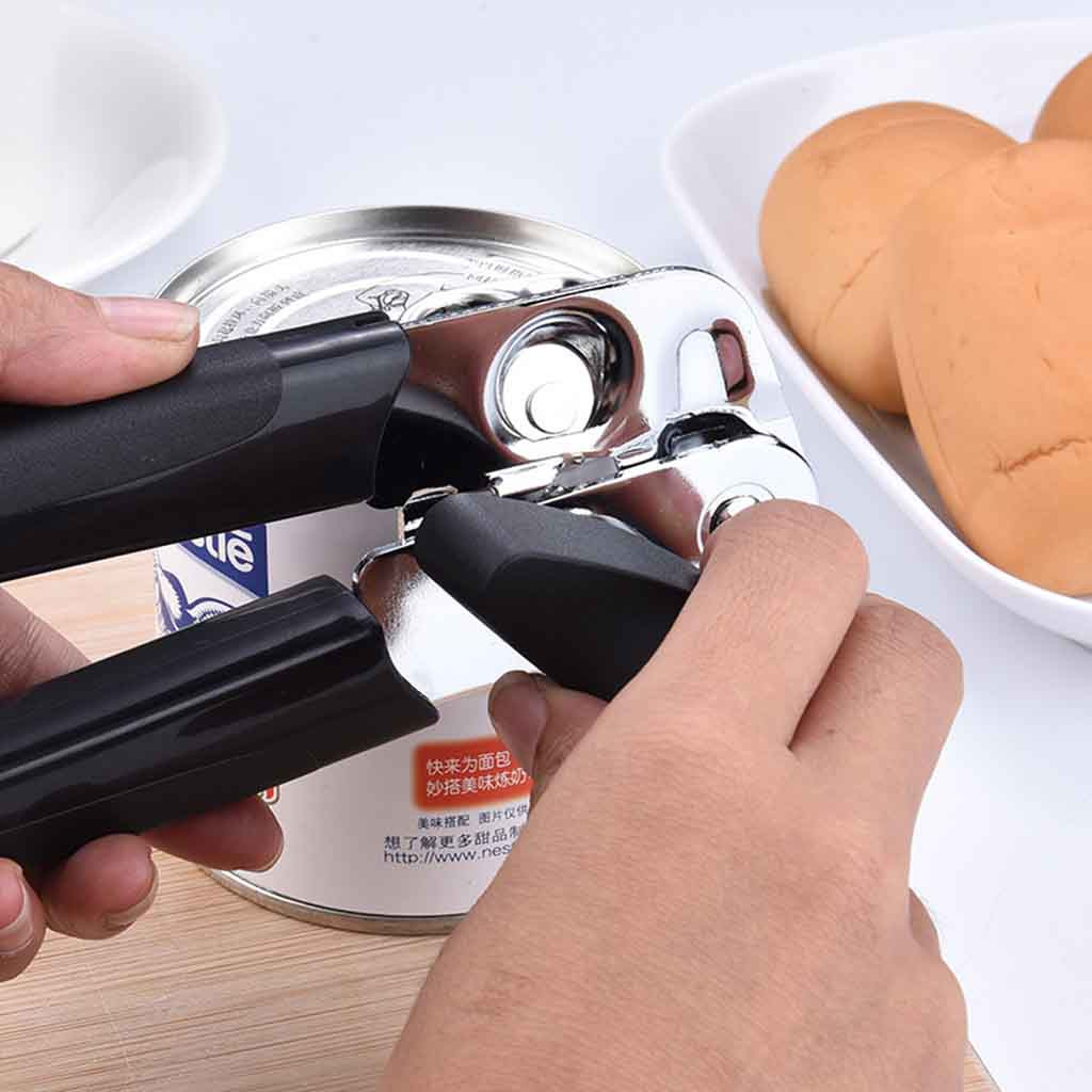 Stainless Steel Professional Tin Manual Can Opener Craft Beer Grip Opener Cans Bottle Opener Kitchen Gadgets Multifunctional