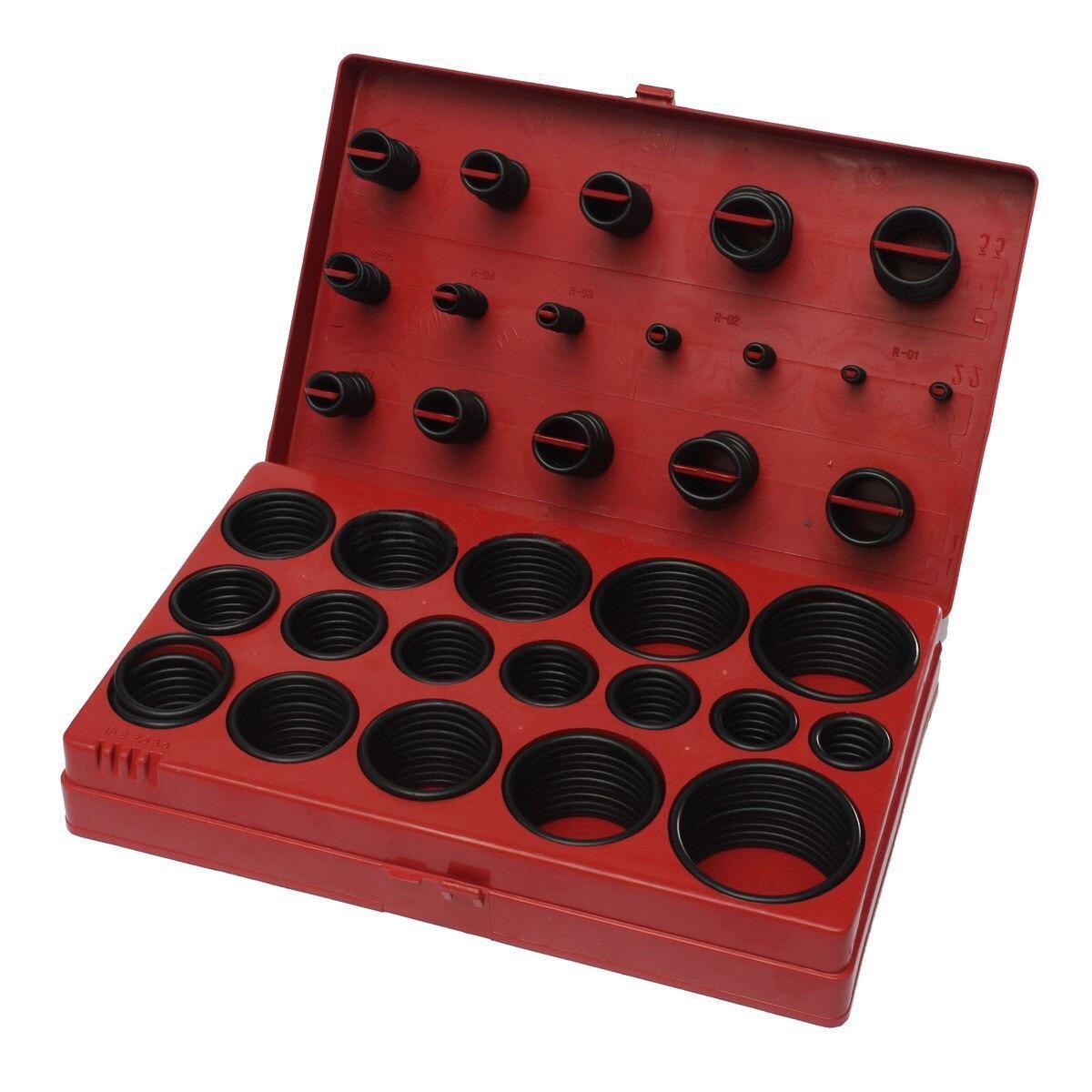 419 Piece Assorted O Ring Rubber Seal Assortment Set Kit Garage Plumbing цена