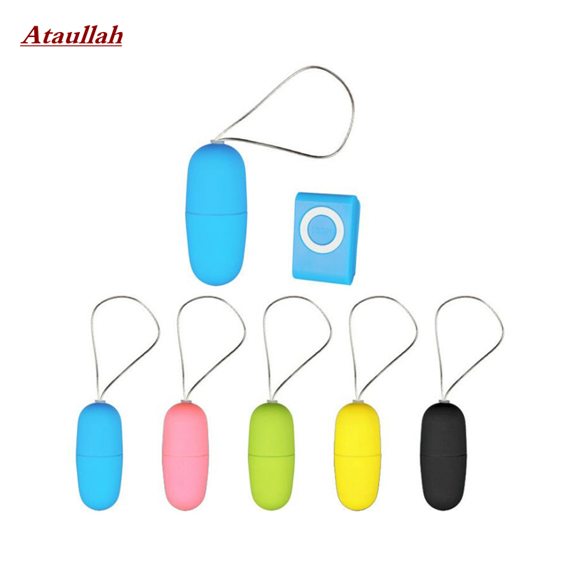 Ataullah Waterproof Mp3 Remote Control Vibrating Love Egg Wireless Remote Control Bullet Vibrator Adult Sex toys for Woman ST005 in Vibrators from Beauty Health