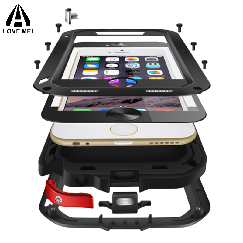 f89d221a3bd Love Mei Powerful Shockproof Aluminum Case Cover For Apple iPhone 6 6S 4.7/6  Plus