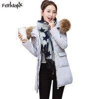 2016 New Long Coat Jacket Women S Winter Jackets Fur Collar Hooded Parkas Female Plus Size