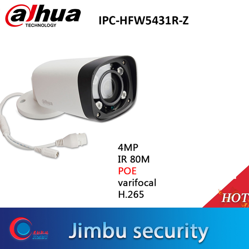 Dahua 4MP POE H 265 IP Camera IP67 IPC HFW5431R Z 80m IR 2 8 12mm