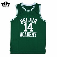 MM MASMIG Will Smith 14 Bel Air Academy Basketball Jersey Green S To 3XL