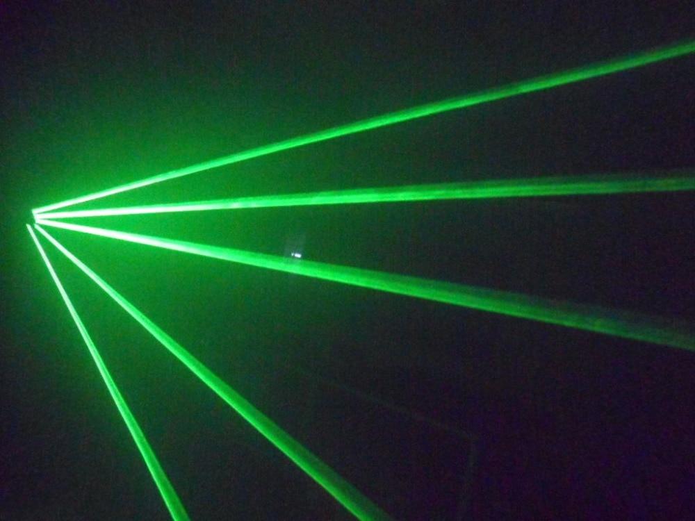 Illuminazione aobo verdi guanti laser con 4 pz laser verde modulo di