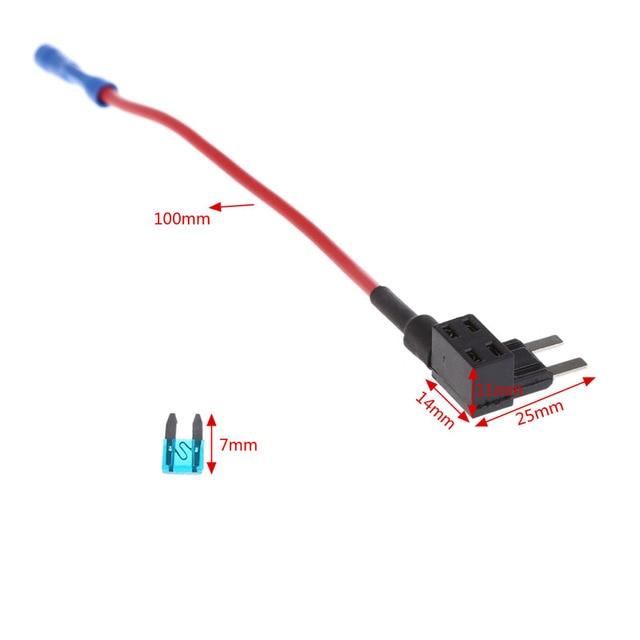 High Quality Hot 5 Pcs 15A Add Circuit Mini Blade Fuse Box Holder ACS ATO ATC Piggy Back Tap