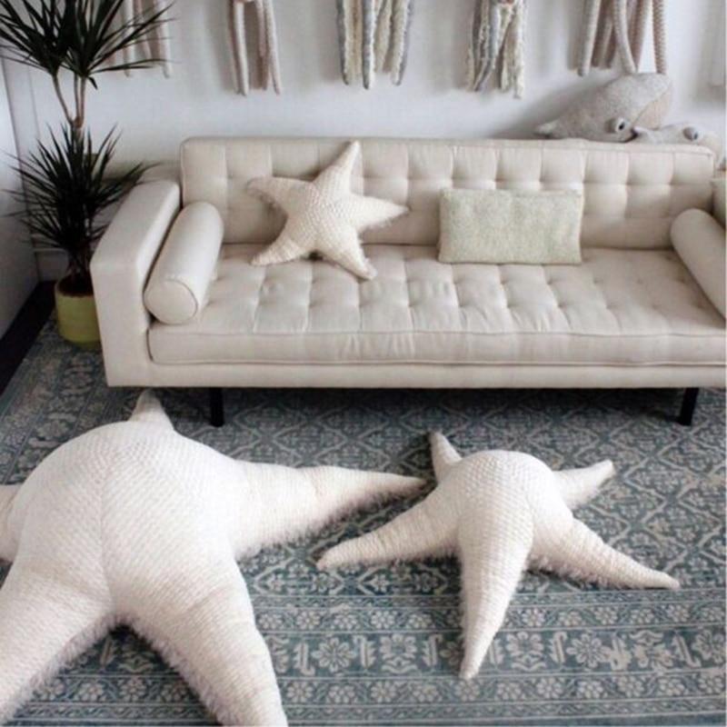 New starfish toy big star pillow cushion children living room pillow pillow baby doll pillow children room decoration plush doll