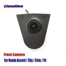 Liandlee Car Front View Camera Small Logo Embedded AUTO CAM For Honda Accord City Civic Fit ( Not Reverse Rear Parking )