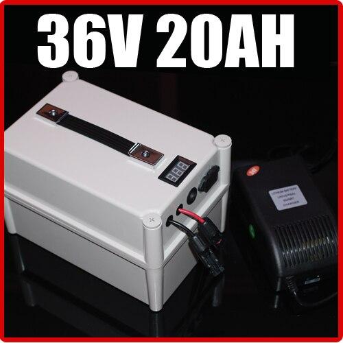 36 V 20AH LiFePO4 Batterie Portable Batterie, vélo électrique Scooter Pack Solaire d'énergie, étanche 36 v au lithium Livraison Gratuite